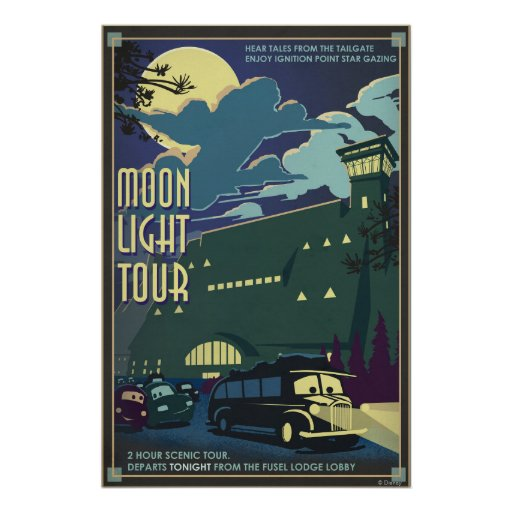 Moon Light Tour Illustration Print