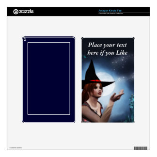 Moon Light Witch Kindle Fire Skin