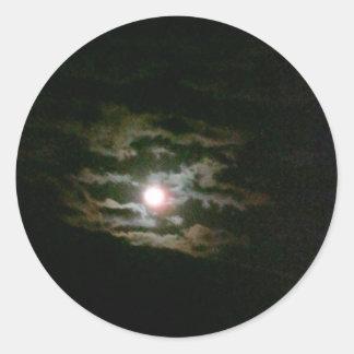 Moon Lit night Classic Round Sticker