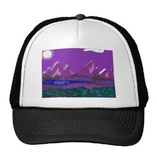 Moon lit night trucker hat