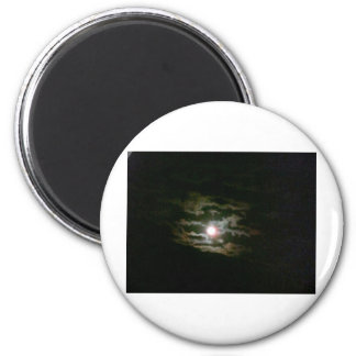 Moon Lit night Refrigerator Magnets