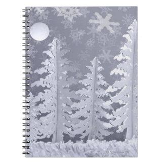 Moon lit Winter landscape Notebook