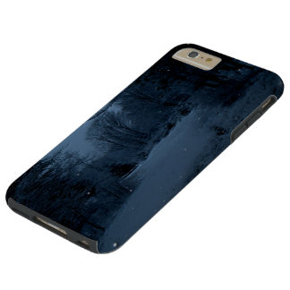Moon Lite Snowy Road in the Woods - Scary Night Tough iPhone 6 Plus Case