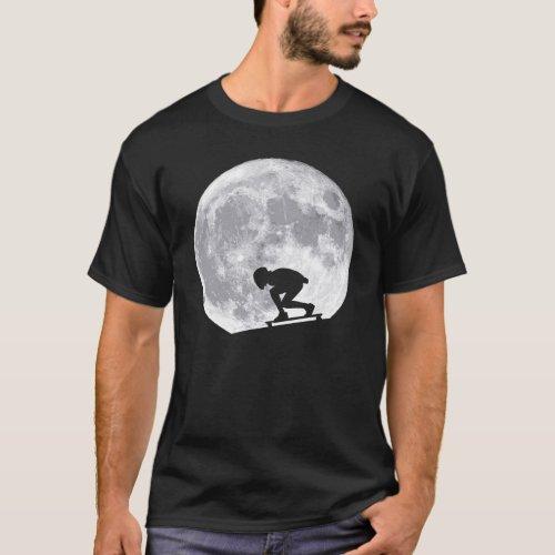 Moon longboarding T_Shirt