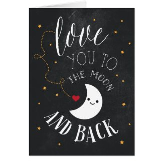 Moon Love Greeting Card