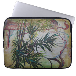 Moon Lovers With Flute Laptop Sleeve