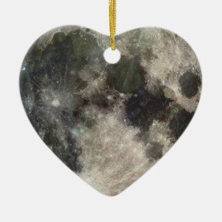 Moon Lunar Surface Photograph Galileo Ceramic Ornament