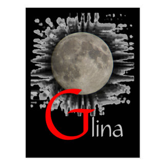 Moon, Lune, Luna, Glina, Moon postcard