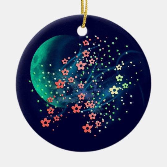 Moon Madness Ceramic Ornament