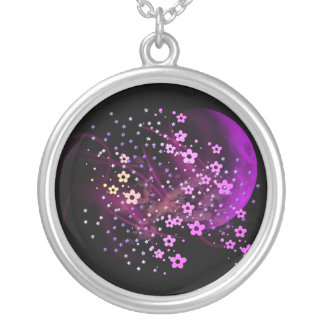 Moon Madness Round Pendant Necklace