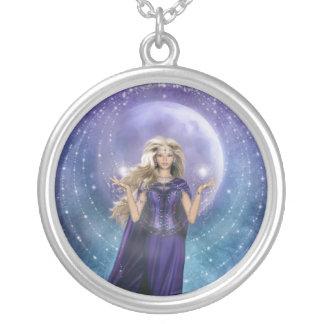 Moon Magic Round Pendant Necklace