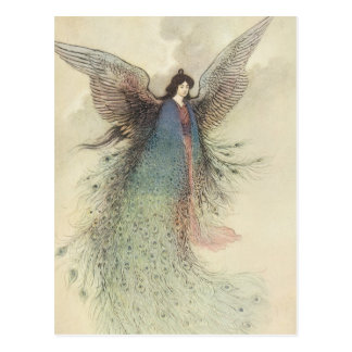 Moon Maiden Japanese Fairy by Warwick Goble Post Cards