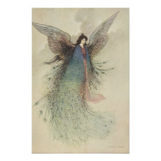 Moon Maiden Japanese Fairy by Warwick Goble Print
