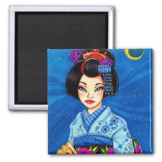 Moon Maiko Magnet Geisha Japanese Art