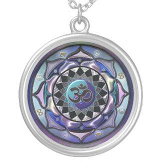 Moon Mandala Cool Toned Symbolic Necklace