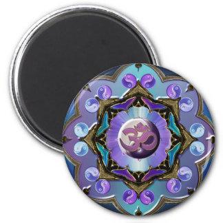 Moon Mandala Variation 2 Inch Round Magnet