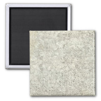 Moon Map 2 Inch Square Magnet