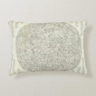Moon Map Accent Pillow