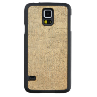 Moon Map Carved Maple Galaxy S5 Case