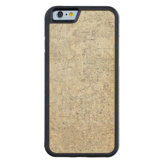 Moon Map Carved Maple iPhone 6 Bumper Case