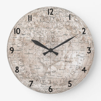 Moon Map Clocks