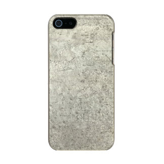 Moon Map Metallic Phone Case For iPhone SE/5/5s