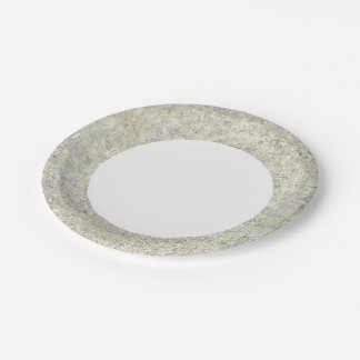 Moon Map Paper Plate
