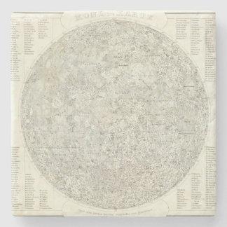 Moon Map Stone Coaster