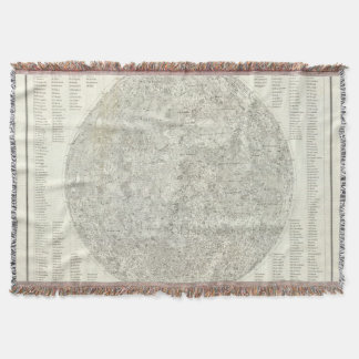 Moon Map Throw Blanket