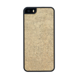 Moon Map Wood Phone Case For iPhone SE/5/5s