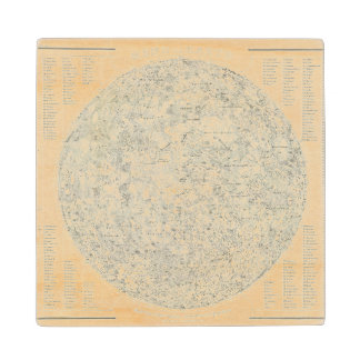 Moon Map Wooden Coaster