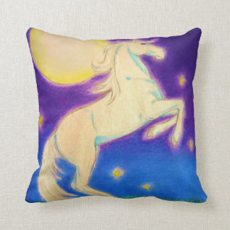 Moon Mare Throw Pillow