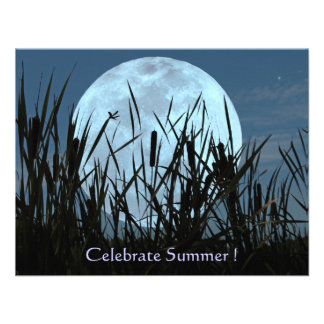 Moon Marsh and Dragonfly Summer Party Invitation