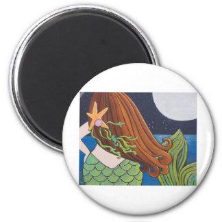 Moon Mermaid Fridge Magnets