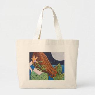 Moon Mermaid Large Tote Bag