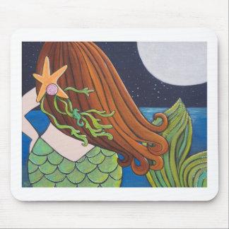 Moon Mermaid Mouse Pad