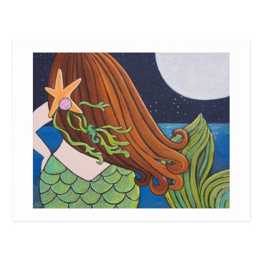 Moon Mermaid Postcard