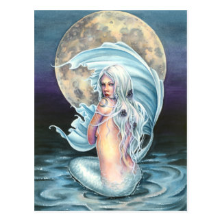 Moon Mermaid Postcard