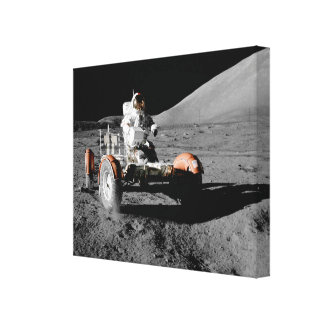 moon mission astronaut buggy space canvas print