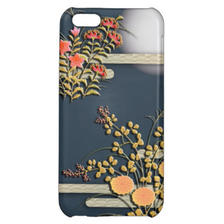 Moon, mist and flowers elegant japanese pattern iPhone 5C cover