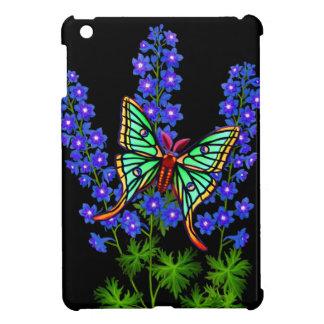 Moon Moth on Delphinium Flowers iPad Mini Case