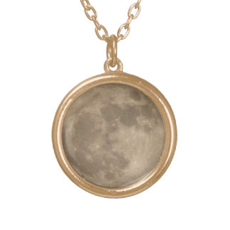 Moon Necklace Full Moon Pendent Necklace Jewelry