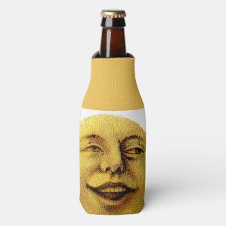 moon night face eyes dinner drink vintage painting bottle cooler