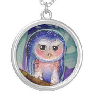Moon Night Owl Necklace
