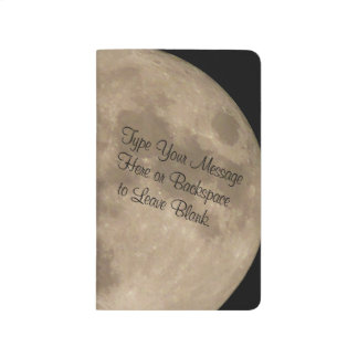 Moon Notebook Personalized Full Moon Sketchpad Journals