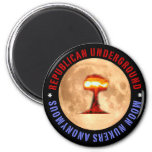 Moon Nukers Anonymous Refrigerator Magnet