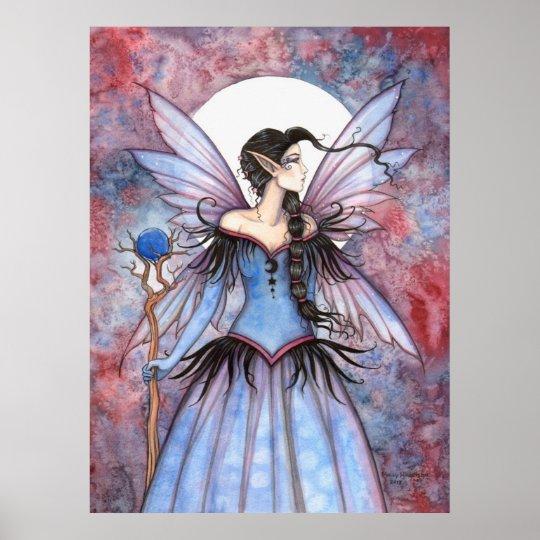 Moon of Winter Mystical Fairy Fantasy Art Poster