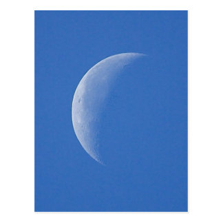 Moon On Blue Sky Postcard
