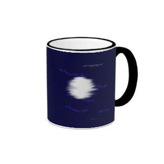 Moon on waves mug