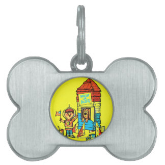 Moon or Bust! Pet Name Tag